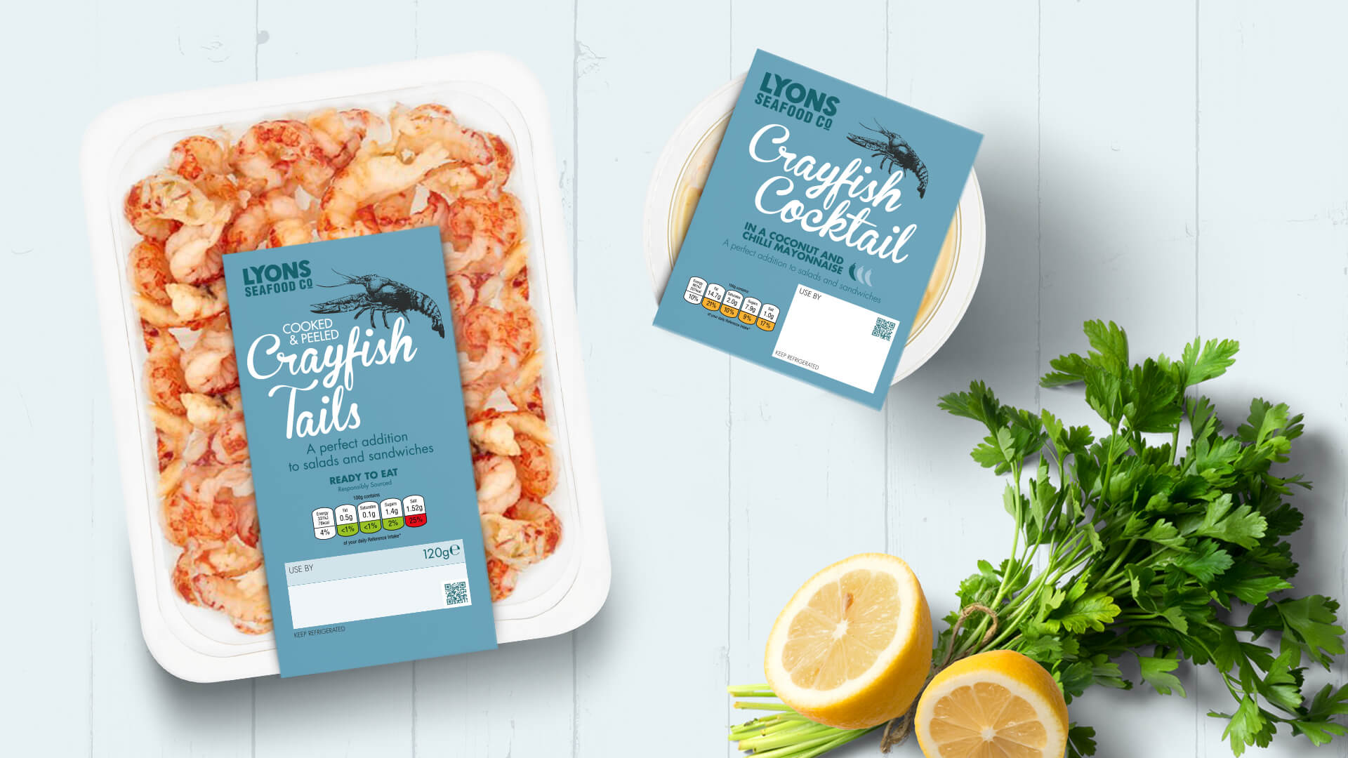 Lyons Seafood Co Branding and Packaging Design